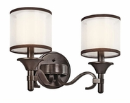 Kichler 45282MIZ Lacey 2-light Vanity in Mission Bronze