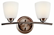 Kichler 45359BPT Granby 2-light Bathroom Lighting Vanity in Brushed Pewter