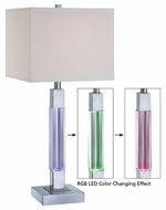 Lite Source LS21826 Fidelio Modern Table Lamp with Color-changing LED Body