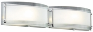 PLC 7824 Millennium 2 Light Bowed Glass Modern Bathroom Light