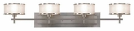 Feiss VS13704BS Casual Luxury 4-Lamp Vanity Light in Brushed Steel