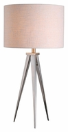 Kenroy Home 32262BS Foster Modern Brushed Steel Tripod Table Lamp