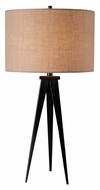 Kenroy Home 32262ORB Foster Oil Rubbed Bronze 29 Inch Tall Tripod Lamp