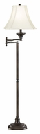 Kenroy Home 33051BBZ Wentworth Swing Arm Burnished Bronze 59 Inch Tall Bell Shade Floor Lamp