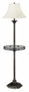 Kenroy Home 33052BBZ Wentworth Bell Shade Burnished Bronze Floor Lamp With Tray