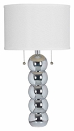 Kenroy Home 32140CH Bolero Chrome Finish Modern Living Room Table Lamp