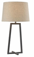 Kenroy Home 32150ORB Ranger Modern Style Oil Rubbed Bronze Bed Lamp - 28 Inches Tall