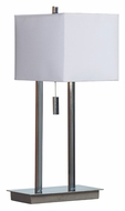Kenroy Home 30815CH Emilio Contemporary 21 Inch Tall Chrome Living Room Table Lamp