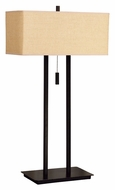 Kenroy Home 30816BRZ Emilio 29 Inch Tall Bronze Finish 2 Light Table Lamp