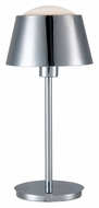 Kenroy Home 31999CH Kramer 19 Inch Tall Modern Chrome Finish Bed Lamp