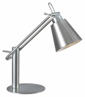Kenroy Home 32004BS Nelson 20 Inch Tall Brushed Steel Finish Desk Lamp