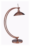 Kenroy Home 32005VC Adrian Transitional Vintage Copper Finish 15 Inch Tall Table Light