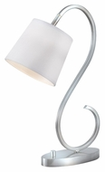 Kenroy Home 32009BS Wilson Brushed Steel 21 Inch Tall Curved Desk Light
