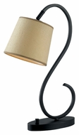 Kenroy Home 32009ORB Wilson Curved Oil Rubbed Bronze 21 Inch Tall Desk Lamp