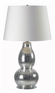 Kenroy Home 32041CHCR Mercurio 28 Inch Tall Modern Chrome Crackled Glass Table Top Lamp