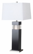 Kenroy Home 20109BL Wyatt Modern 32 Inch Tall Black Finish Table Light