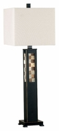 Kenroy Home 20280ORB Windowpane 32 Inch Tall Modern Oil Rubbed Bronze Table Light