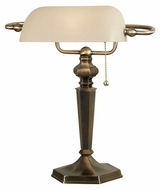 Kenroy Home 20615GBRZ Mackinley 15 Inch Tall Georgetown Bronze Banker's Lamp