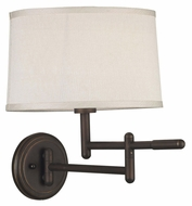 Kenroy Home 20942CB Theta 15 Inch Tall Copper Bronze Swing Arm Wall Lamp