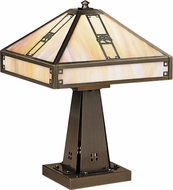 Arroyo Craftsman PTL-11 Pasadena Craftsman Table Lamp - 16 inches tall