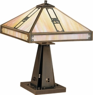 Arroyo Craftsman PTL-16 Pasadena Craftsman Table Lamp - 21.25 inches tall