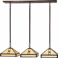 Arroyo Craftsman PICH-11/3 Pasadena Craftsman 3-Light Pendant