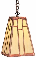Arroyo Craftsman AH-8 Asheville Craftsman Chain Hung Pendant Light - 8 inches wide