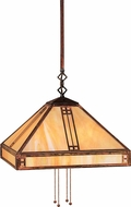 Arroyo Craftsman PSH-15 Prairie Craftsman Pendant Light - 41 inches tall