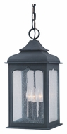 Troy F2017ci Henry Street Traditional 3 Light Exterior Hanging Lamp - Colonial Iron