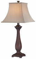 Lite Source LS22043 Davide Dark Walnut Wood Table Lamp