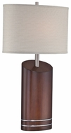 Lite Source LS22090 Elda Walnut Wood Table Lamp