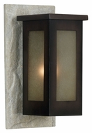 Kenroy Home 70014WHSL Icefield 16 Inch Tall Outdoor Wall Lighting - Cream Slate