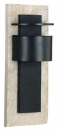 Kenroy Home 70285WHSL Pembrooke Small 15 Inch Tall Bronze Finish Exterior Wall Sconce - Natural White Slate