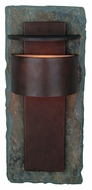 Kenroy Home 70286SL Pembrooke Large Natural Slate Copper Finish Outdoor Sconce