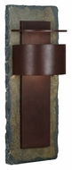 Kenroy Home 70287SL Pembrook Extra Large Natural Slate 24 Inch Tall Exterior Wall Lamp