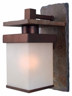 Kenroy Home 70283COP Boulder Medium Natural Slate Copper Finish Outdoor Wall Light