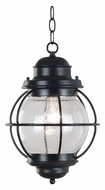 Kenroy Home 90965BL Hatteras 10 Inch Diameter Black Nautical Outdoor Lighting Pendant