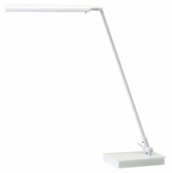 House of Troy G350-WT Generation White Adjustable 11 to 22 Inch Tall Transitional Desk Lamp