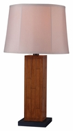 Kenroy Home 32194TK Lakely Teak Finish 26 Inch Tall Wooden Table Light
