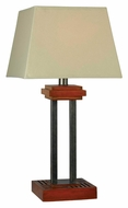 Kenroy Home 32195CYGY Hadley 32 Inch Tall Cherry Finish Living Room Table Lamp
