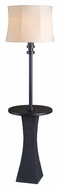 Kenroy Home 32205BRZ Weaver 63 Inch Tall Wet-Rated Bronze Floor Lamp With Tray