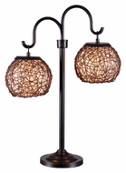 Kenroy Home 32245BRZ Castillo 2 Lamp Bronze Finish 27 Inch Tall Table Lighting
