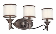 Kichler 45283MIZ Lacey 3-light Bathroom Lighting in Mission Bronze