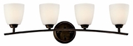 Kichler 45361OZ Granby 4-light Vanity Bathroom Lighting in Olde Bronze