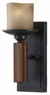 Feiss WB1517AFAGW Madera Semi-Flush Wall Sconce