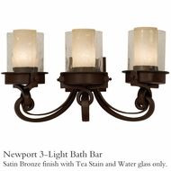 Kalco 5753sz Newport 3-Light Bath Bar