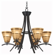 Kenroy Home 90086ORB Wright 6-Light Chandelier