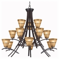 Kenroy Home 90088ORB Wright 15-Light Chandelier