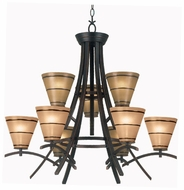 Kenroy Home 90089ORB Wright 9-Light Chandelier