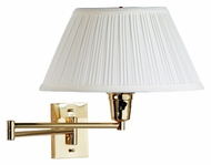 Kenroy Home 30100PBES-1 Element Swing Arm 13 Inch Tall Polished Brass Wall Lamp